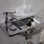 This small basin is a serious dose of shine for a bathroom.