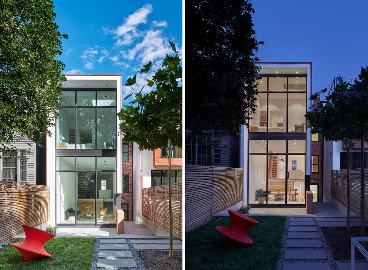This is the extension which has been added to the back of the house in the form of a minimalist structure