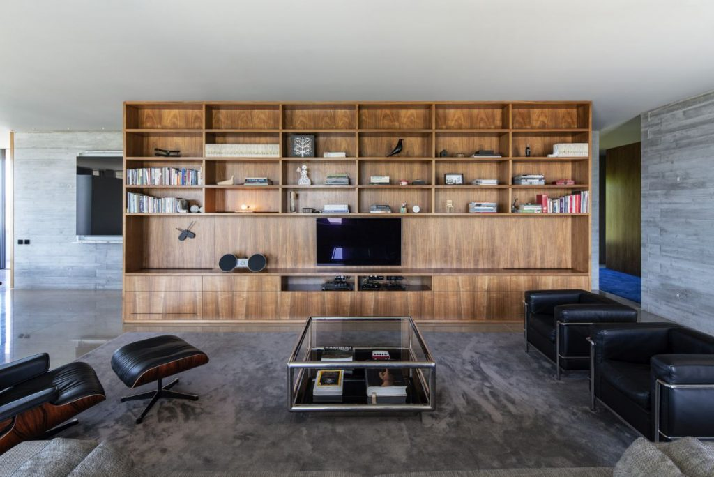 Custom wooden furniture helps to make the living areas welcoming and relaxing