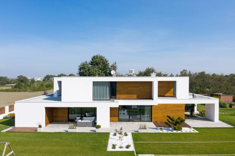 The upper floor has a smaller footprint which leaves space for a couple of roof terraces