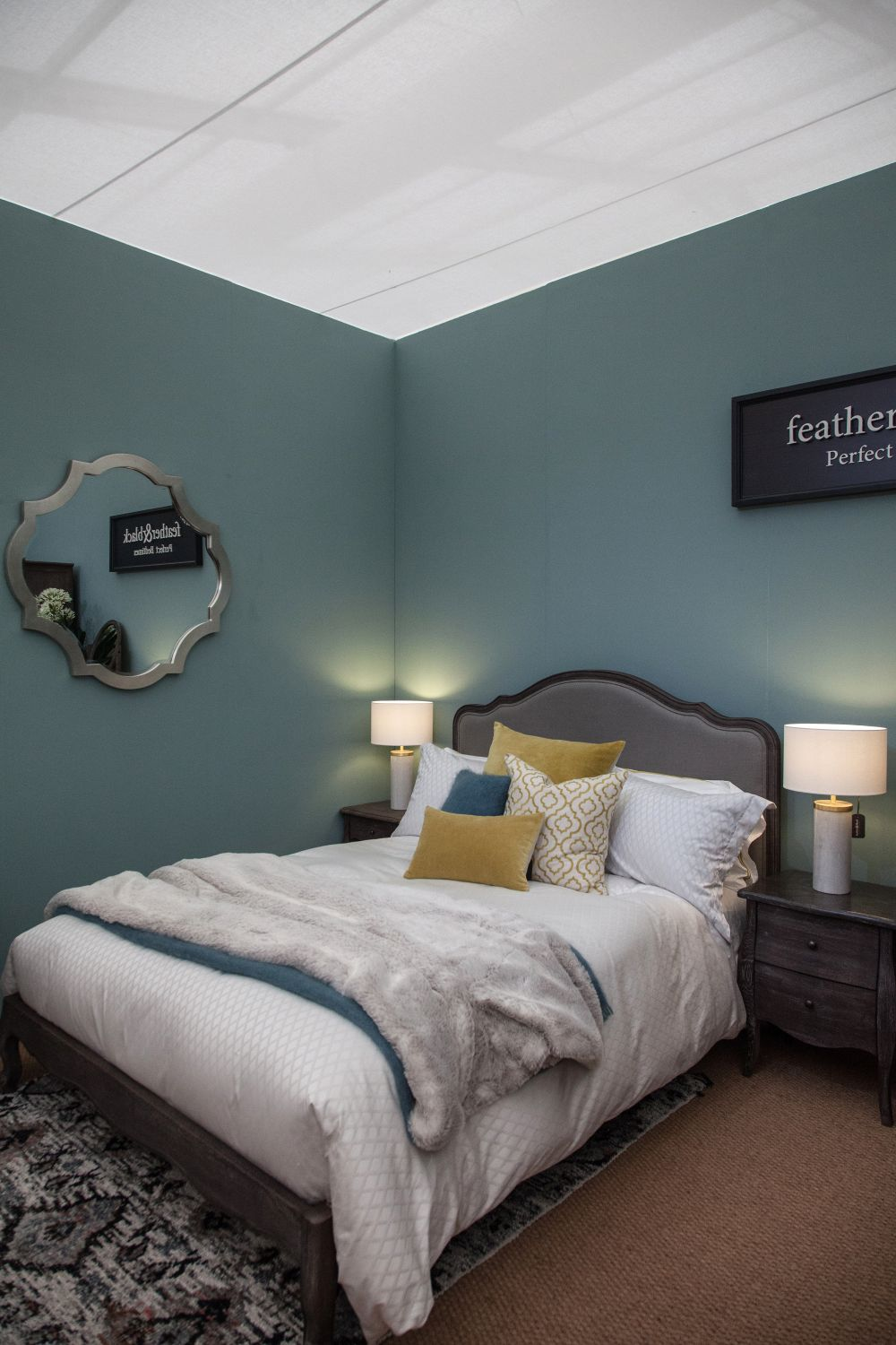 Blue is a suitable color for bedrooms, given its calming and relaxing nature