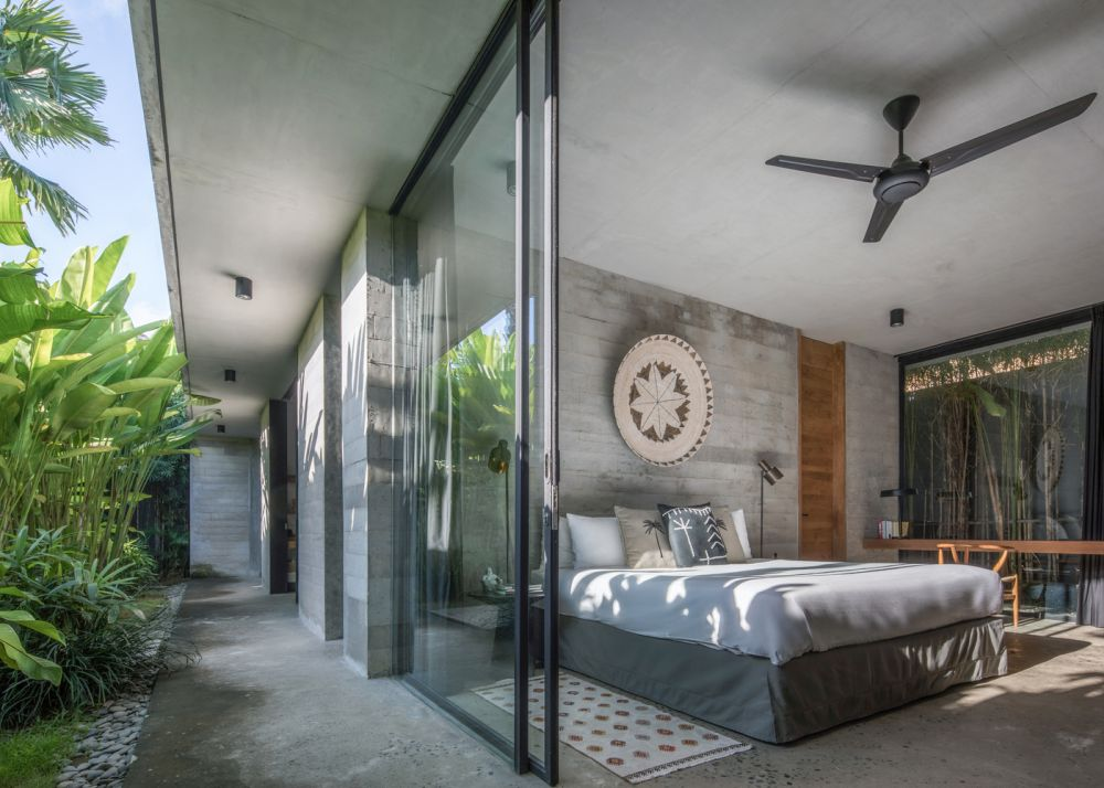 The bedroom wing enjoys a secluded and relaxing decor with easy access to an intimate garden area