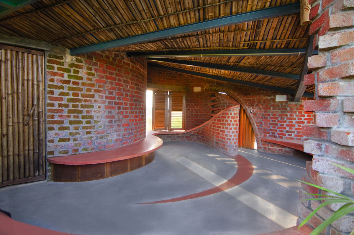 Interior of The Brick House in India
