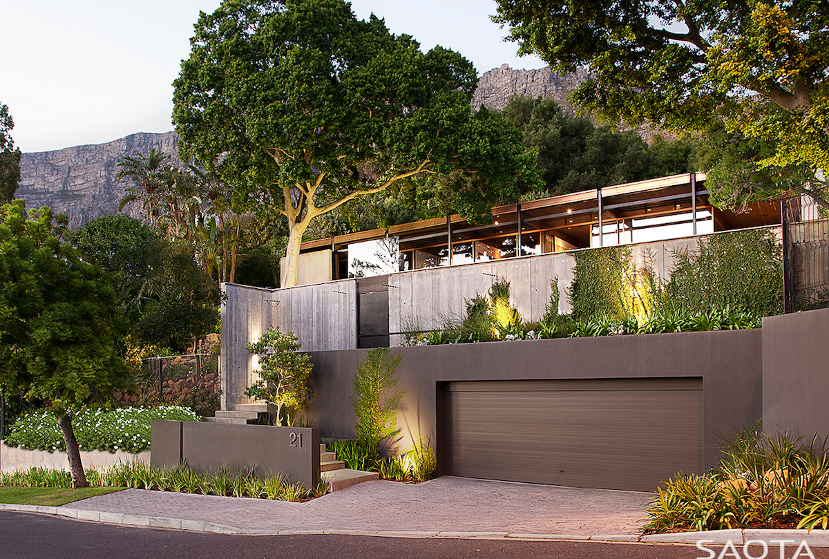 The house has a new front-facing facade with more privacy than before