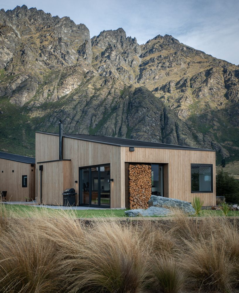 The house is intentionally modest and a simple, a strategy designed to help it blend into the landscape