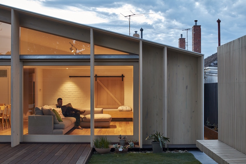 Lean To House large window