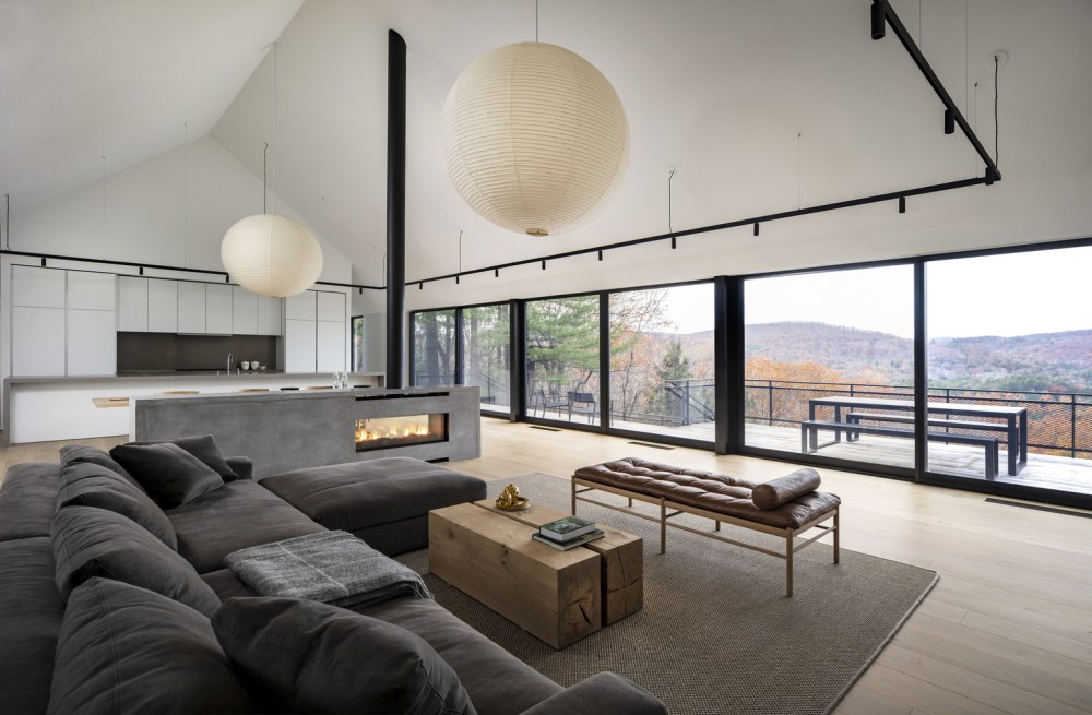 The tall ceiling creates a very breezy and airy atmosphere throughout the house