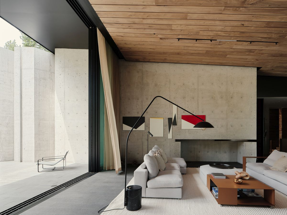 The interior is also muted and simple but also very warm and inviting