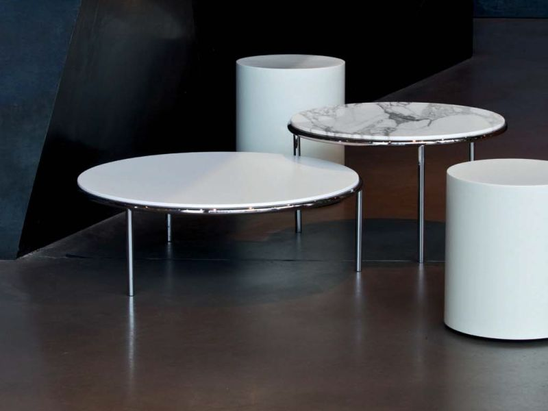 Low marble top coffee tables