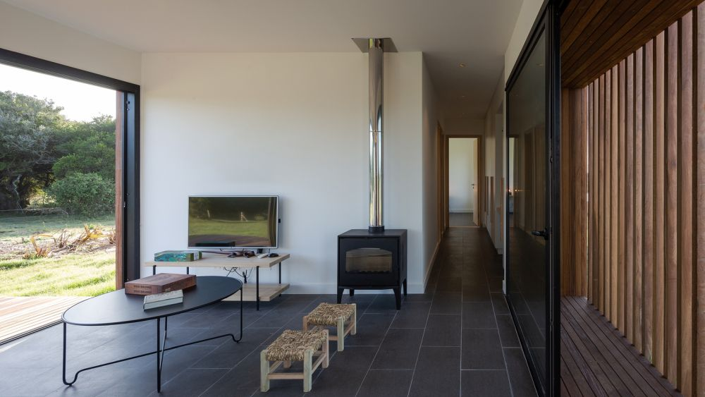 The house has a double orientation which gives it lots of light and nice views