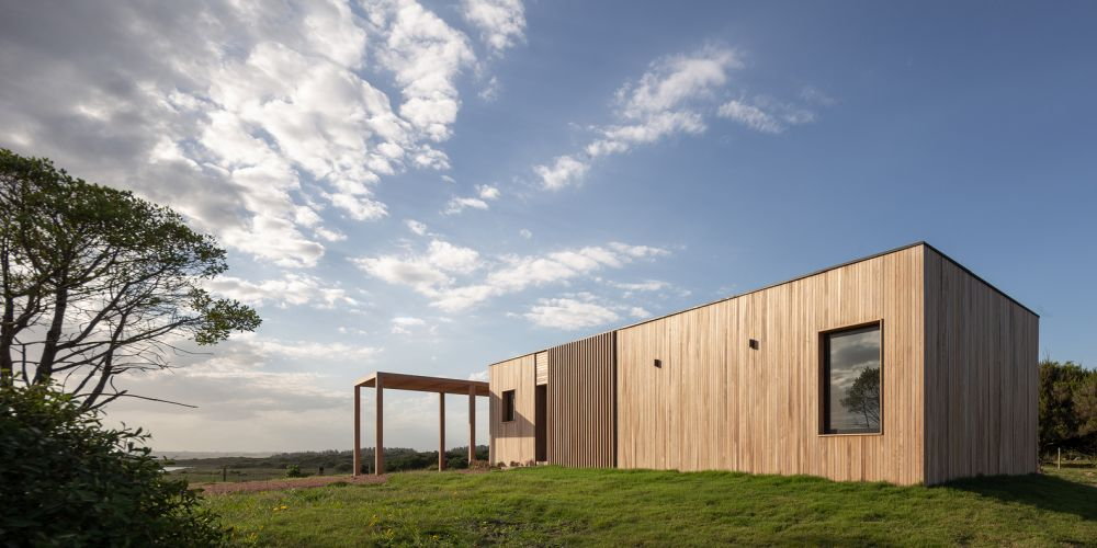 The wooden exterior allows the house to fit more naturally into its surroundings
