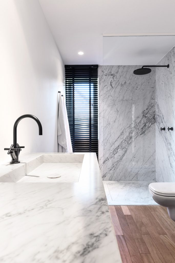 What's the difference between marble and porcelain tiles