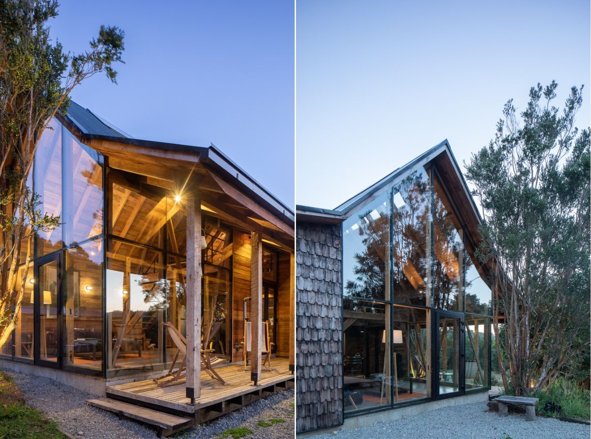 The glazed facade also allows the great outdoors to become a part of the interior design and decor