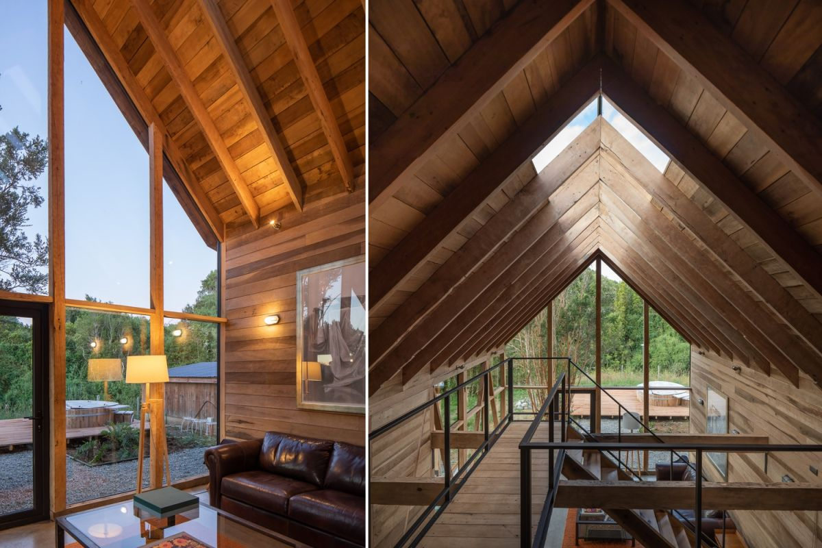 The interior design is very welcoming thanks to all the wood but also simple and modern