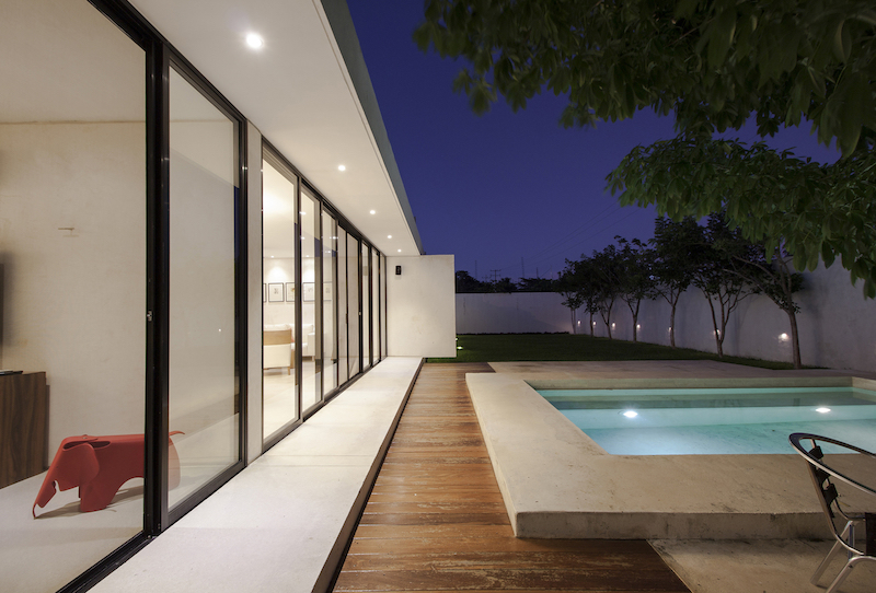 The interior spaces are perfectly lined up, featuring clean and simple layout without unnecessary structural elements