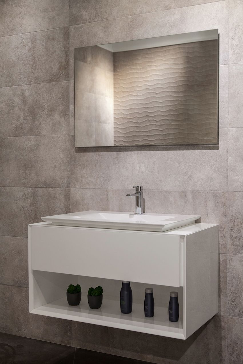The P3 comforts washbasin combined with the L-Cube bathroom furniture by Philippe Starck by Duravit.