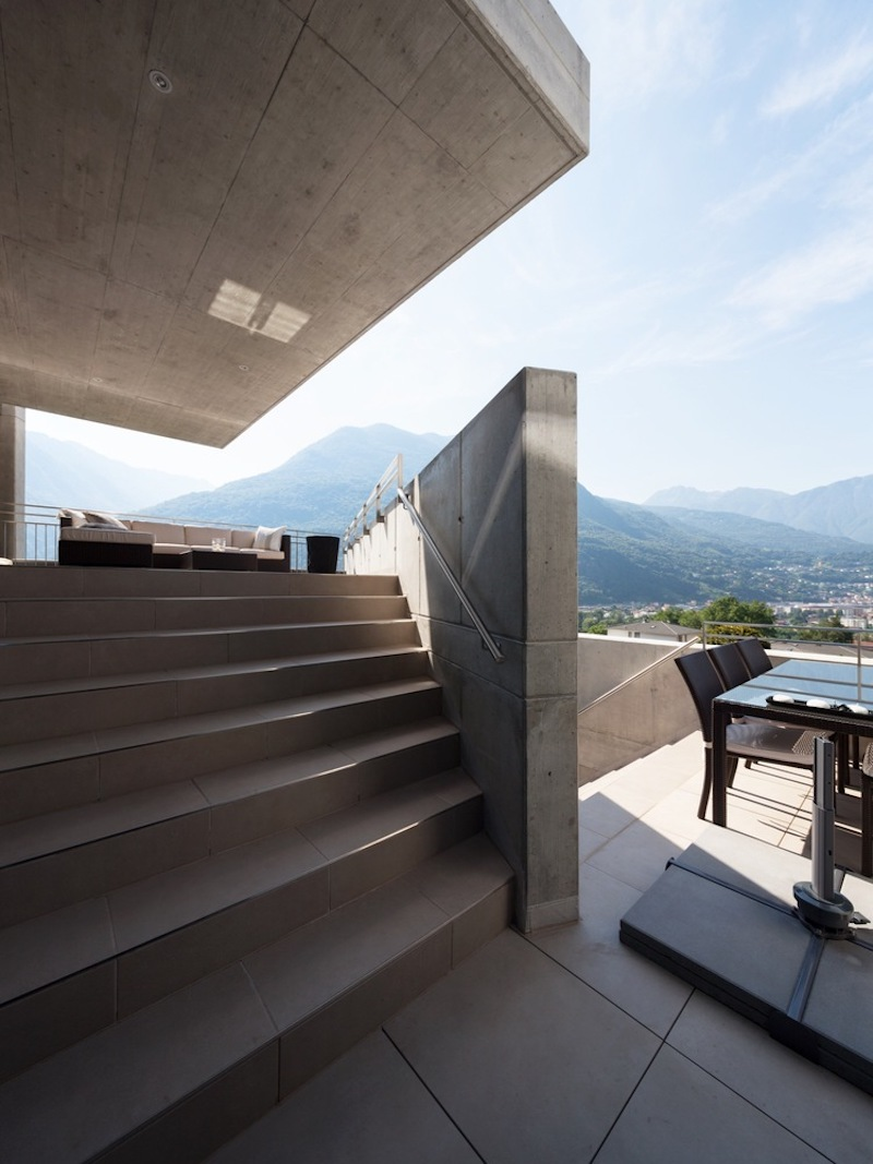 Although they can't really be seen from outside, the house has a series of large outdoor areas