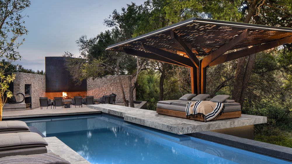 The Plains Houses include a variety of indoor functions as well as outdoor areas with pools