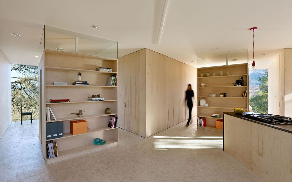 The interior design is very simple and defined mostly by neutral colors