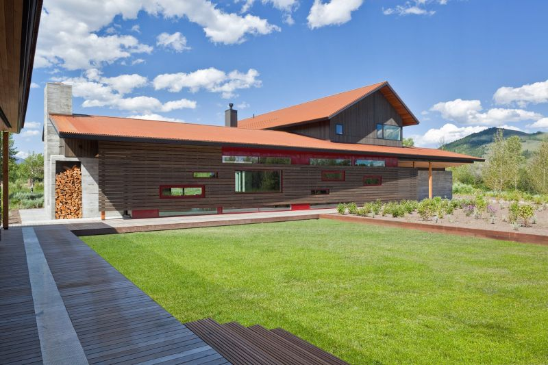 The design of the house is largely dictated by the proportions of the surrounding landscape