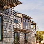 New single family residence with wooden shingles - swimming pool