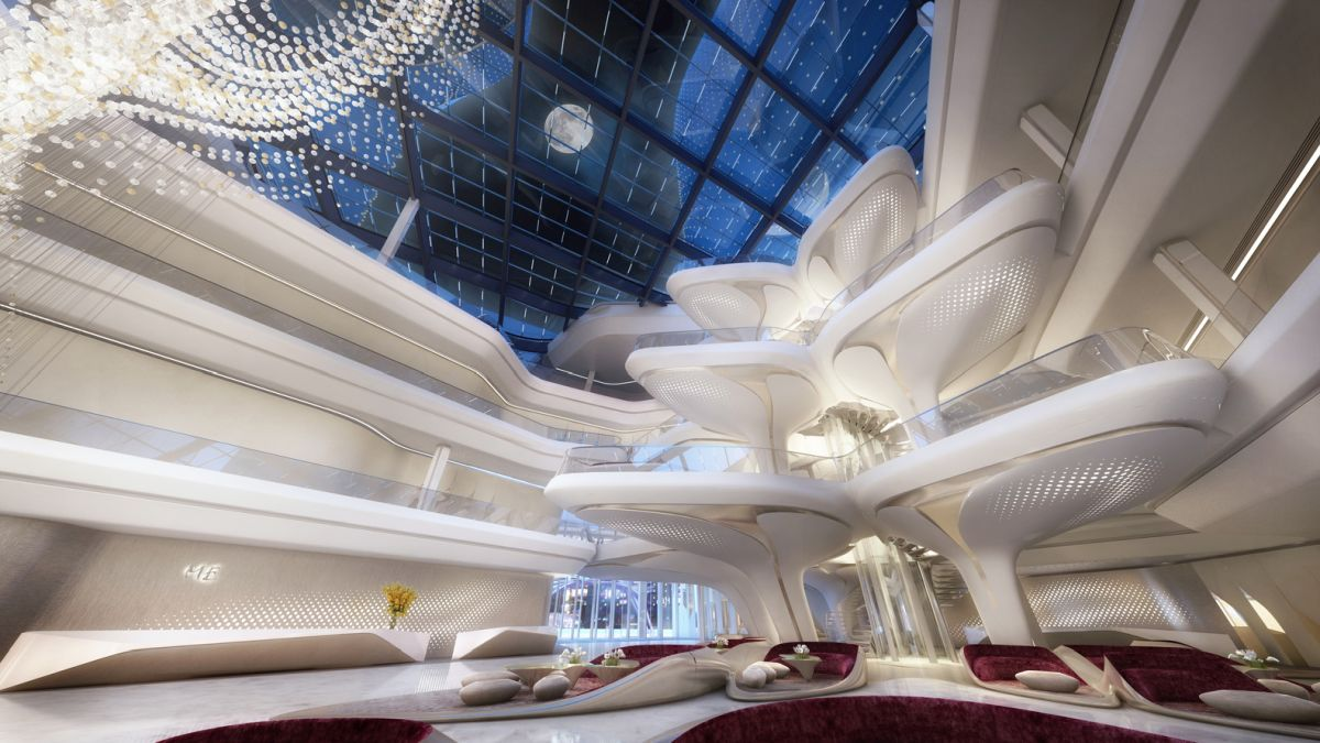 The interior will naturally be sumptuous and glamorous, as expected