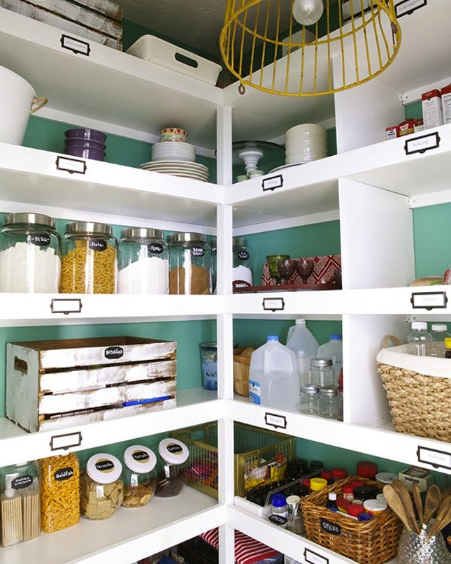 Pantry organization with crates