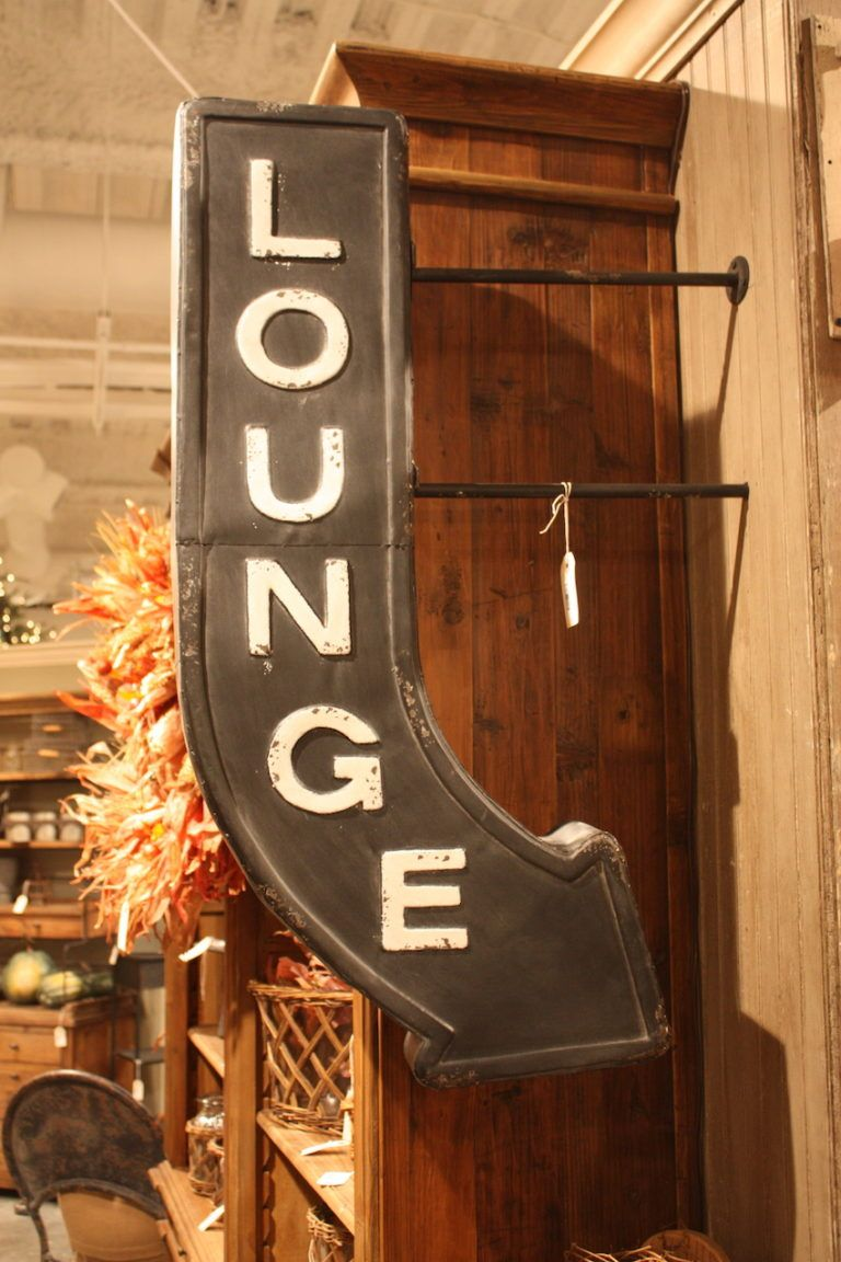 Three-dimensional signs are extra cool wall art ideas for a room.