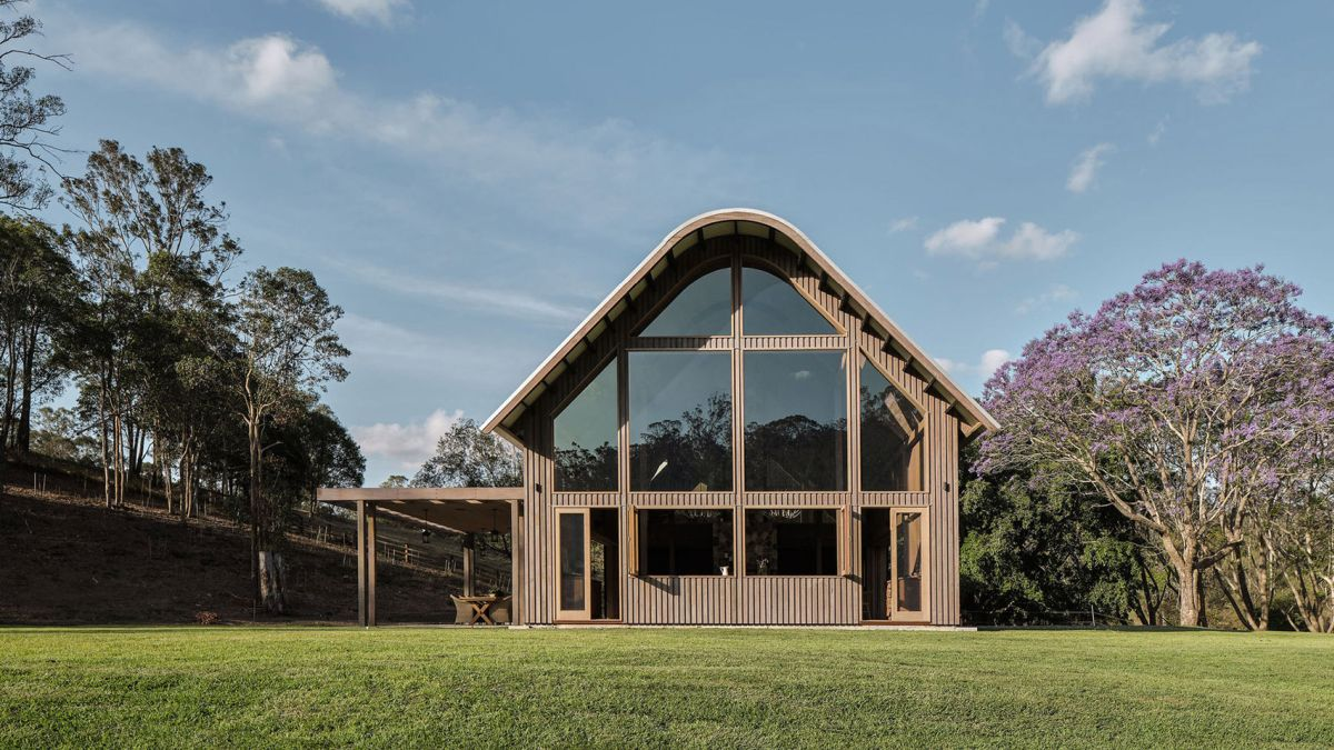 The house has a barn-inspired design inside and out
