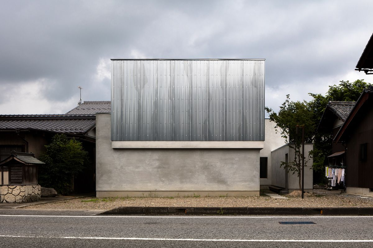 The street-facing facade doesn't have any windows or openings