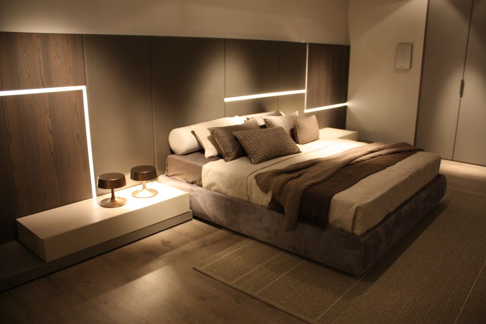 You can play with various different nuances of the same color to create a bedroom decor that looks great and feels comfy