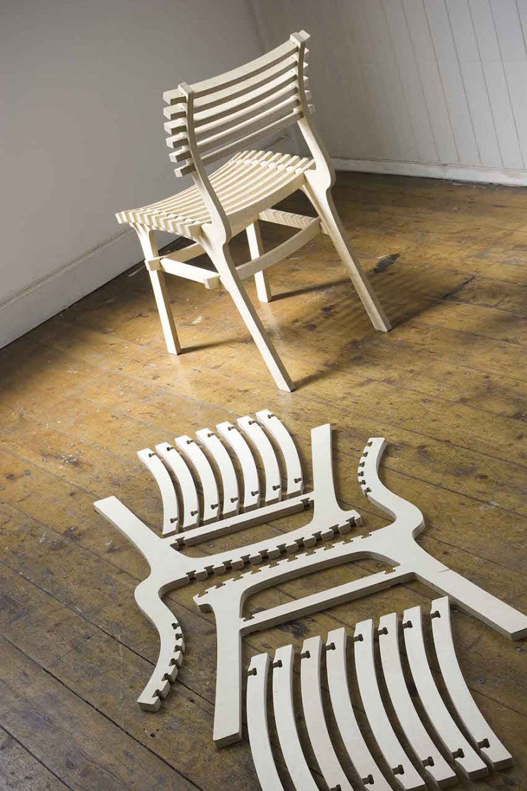 The design of the 2pack chair also conserves materials.