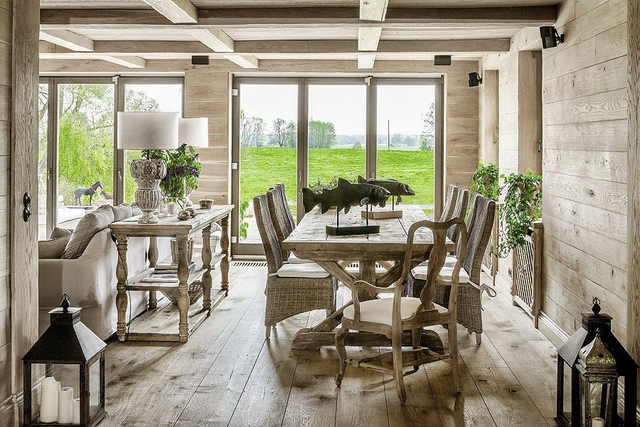There's a visible rustic vibe expressed mainly through the use of wood as a primary material
