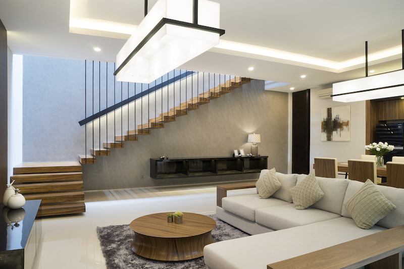 The internal spaces are small but open, bright and very welcoming, like the living area for instance