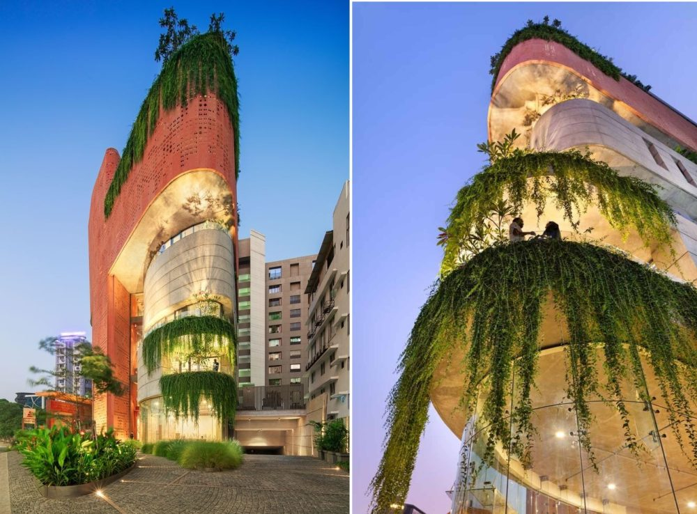 The building as a whole has a very sculptural and eye-catching look