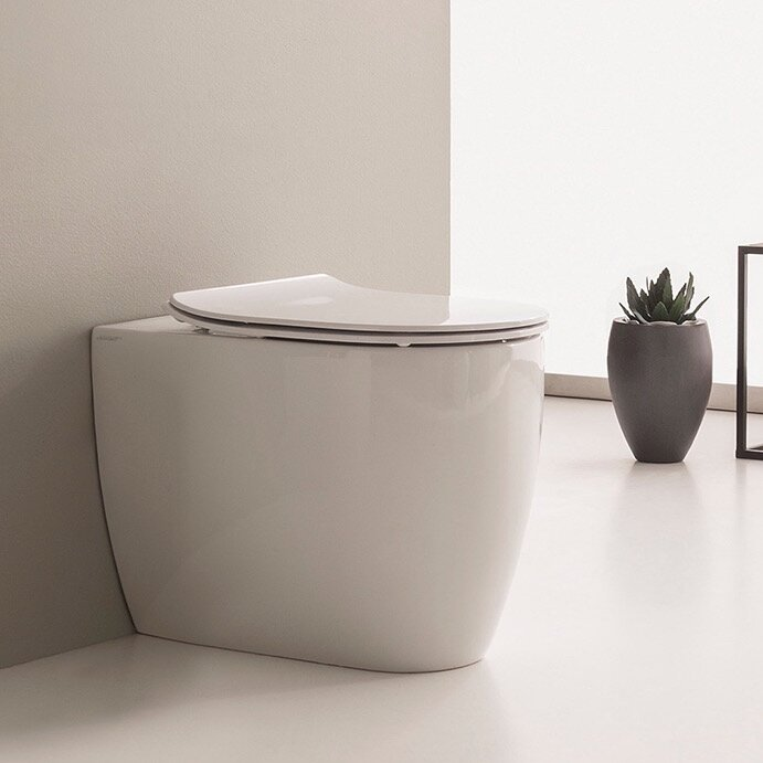 Scarabeo 5522 Moon 1.3 GPF Elongated Back to Wall Toilet