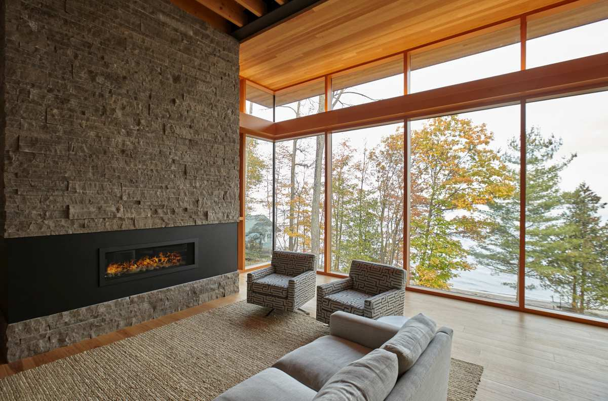 The tall pine and fit trees add charm and character to the landscape and break the views in just the right way
