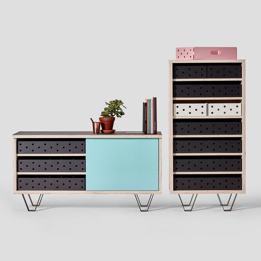 Playful dressers with perforated drawers