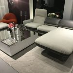 Square coffee table with mirrored top