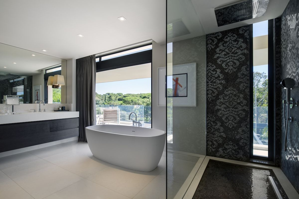 The bathroom spaces are bright and spacious too. They have their own cool views of the surroundings