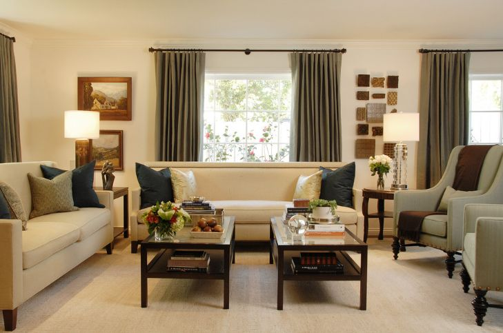 Symmetry for living room coffee tables