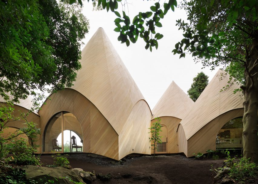 Teepee-shaped buildings architecture