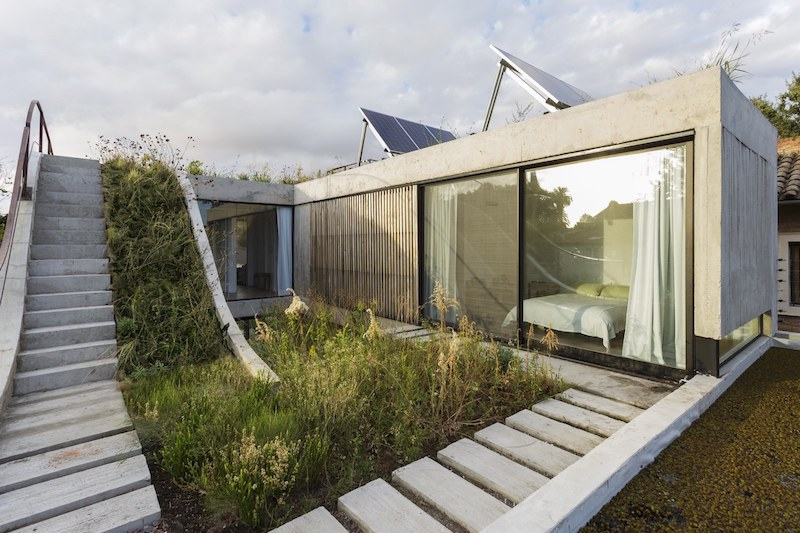 The architecture of the house is shaped by the owner's passion for landscaping