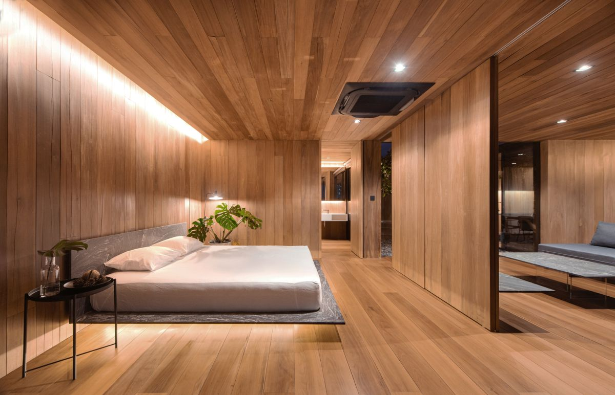 The interior walls are very slim and thus create the impression of more space
