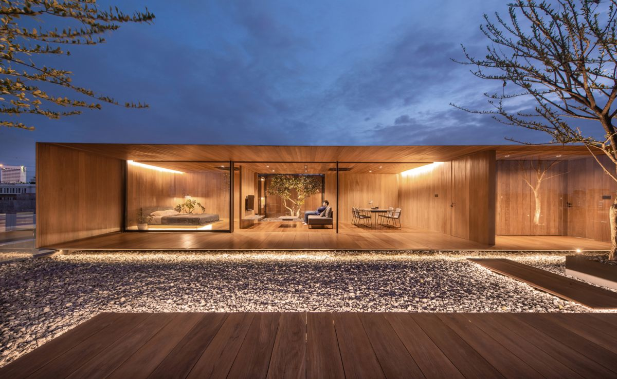Initially this rooftop space was used being used as a storage area for water tanks