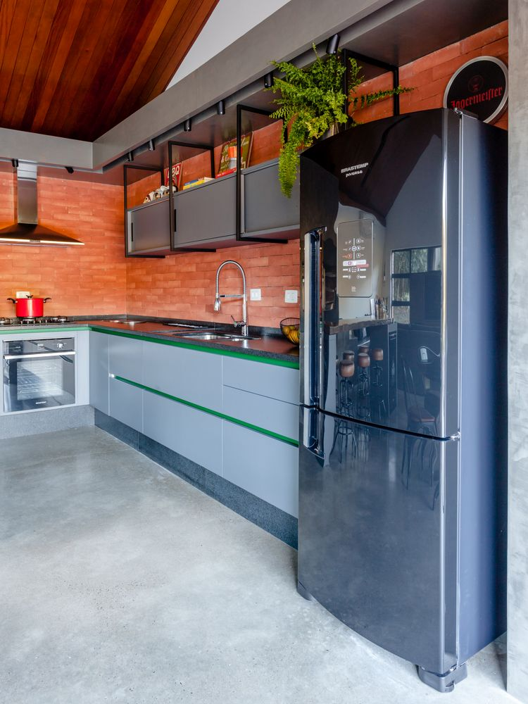 The sleek space is definitely a cook's kitchen.