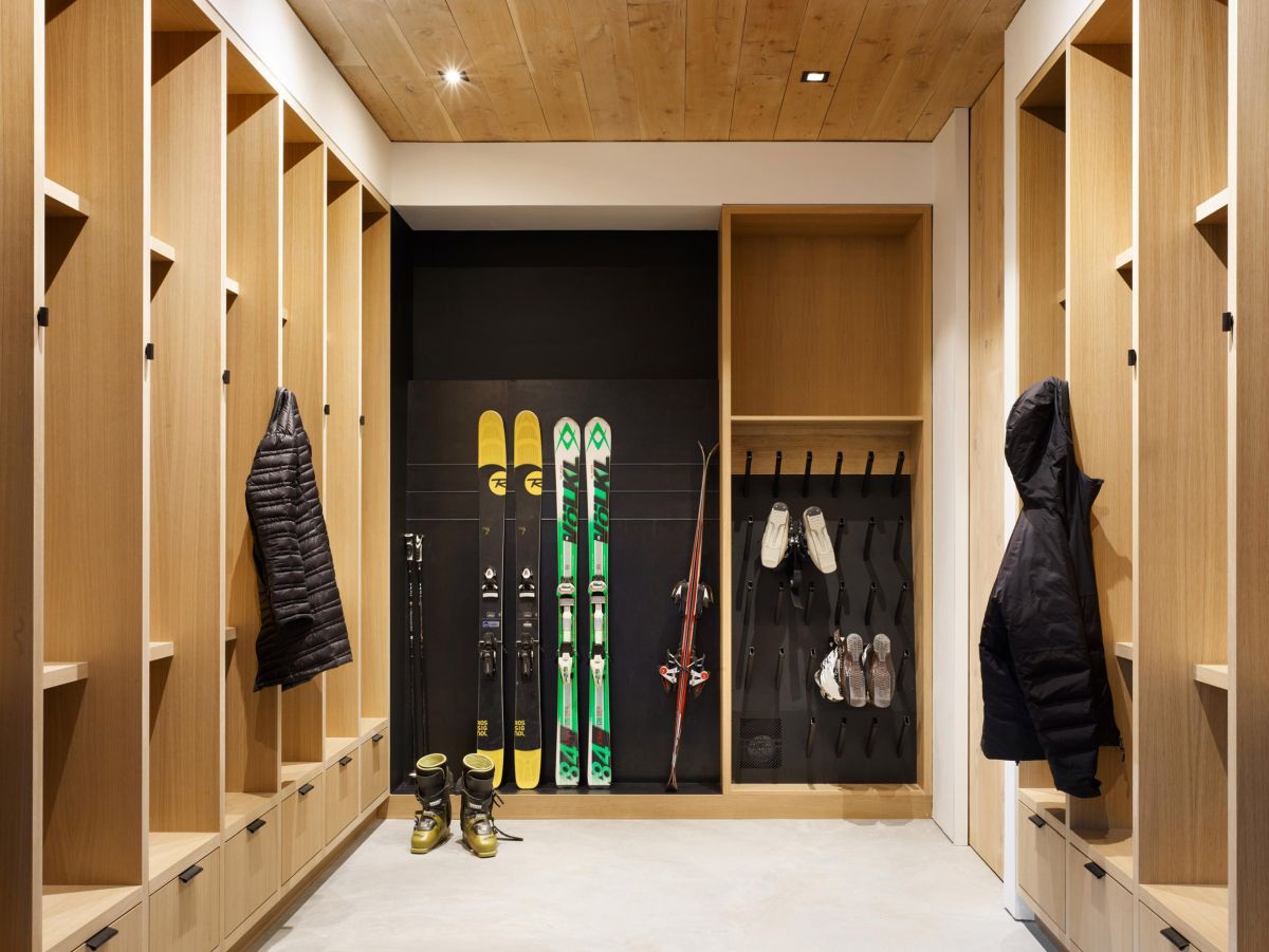 There's a storage room on the lower level for sporting equipment, gear and other similar things