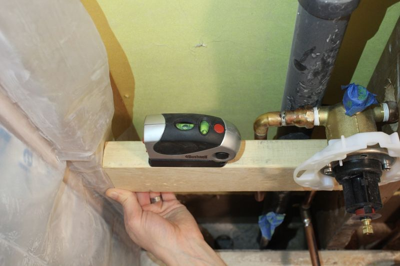 Use a level to install copper pipe