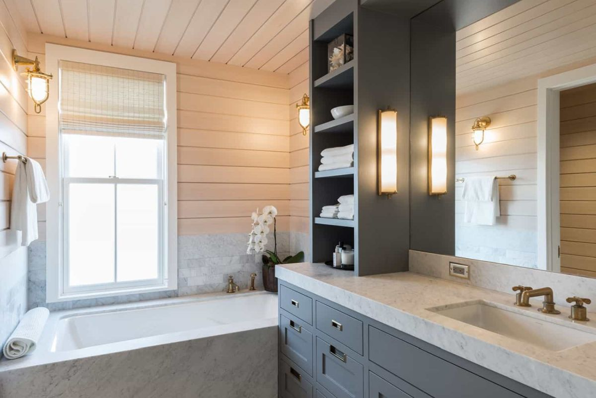 All the rooms have a coastal feel to them combined with a cozy cabin-inspired look