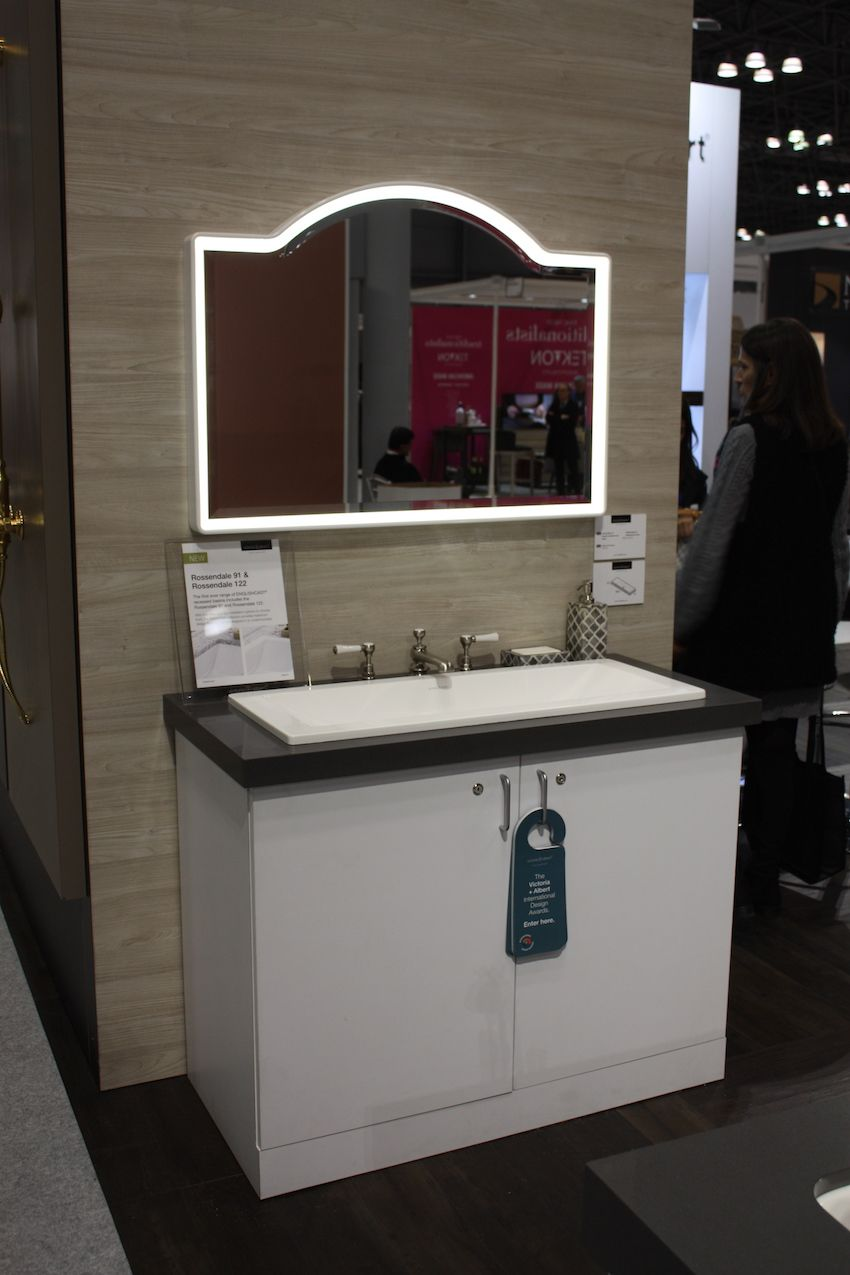 Lighted mirrors work well with single or double vanities.